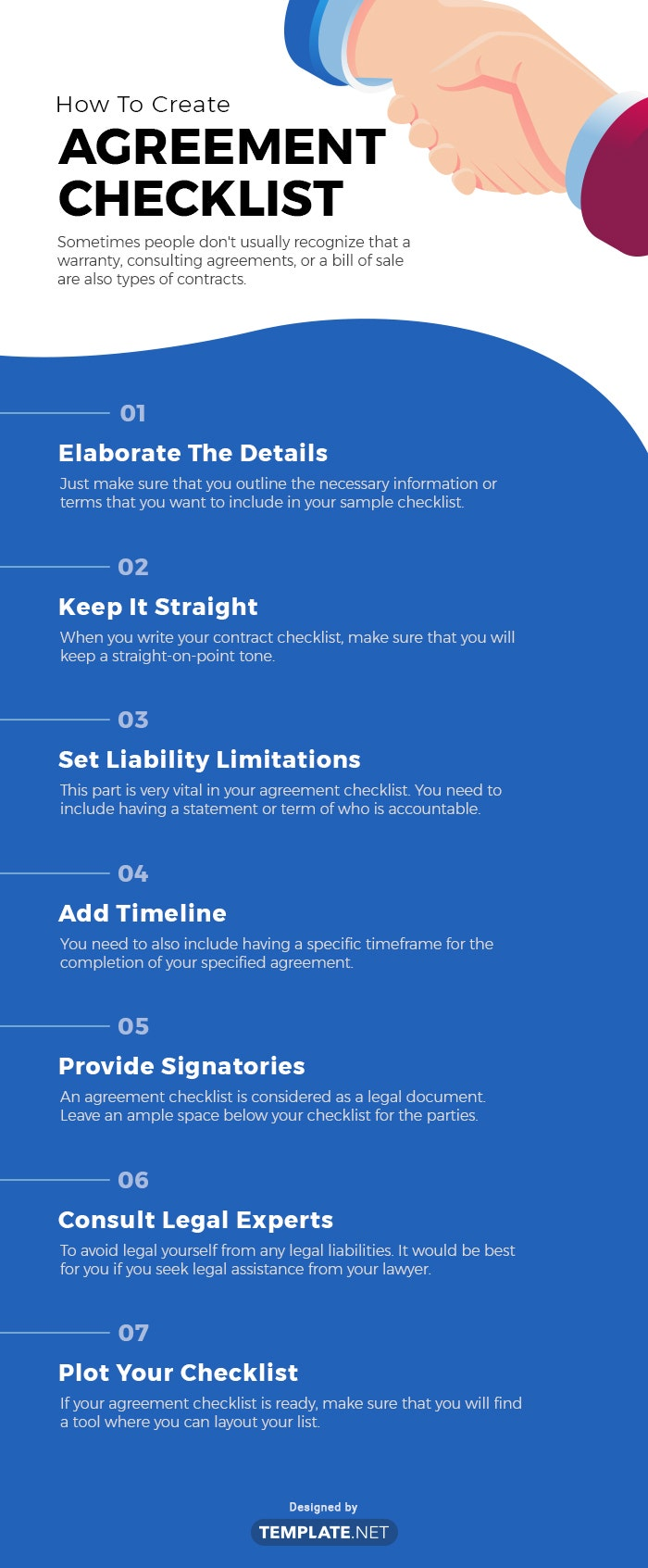 agreement checklist template