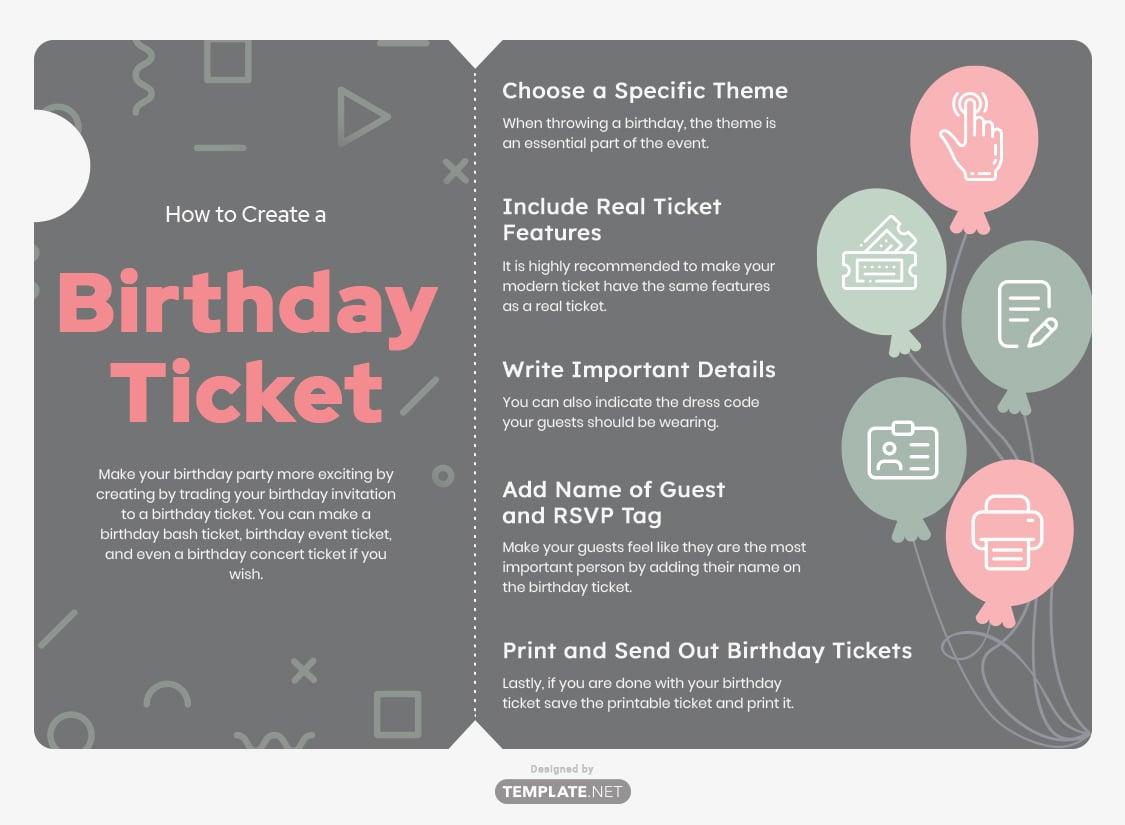 birthday ticket template