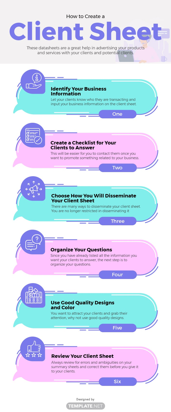 how to create a client sheet