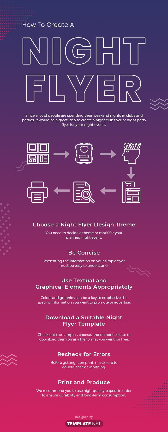 how to create a night flyer