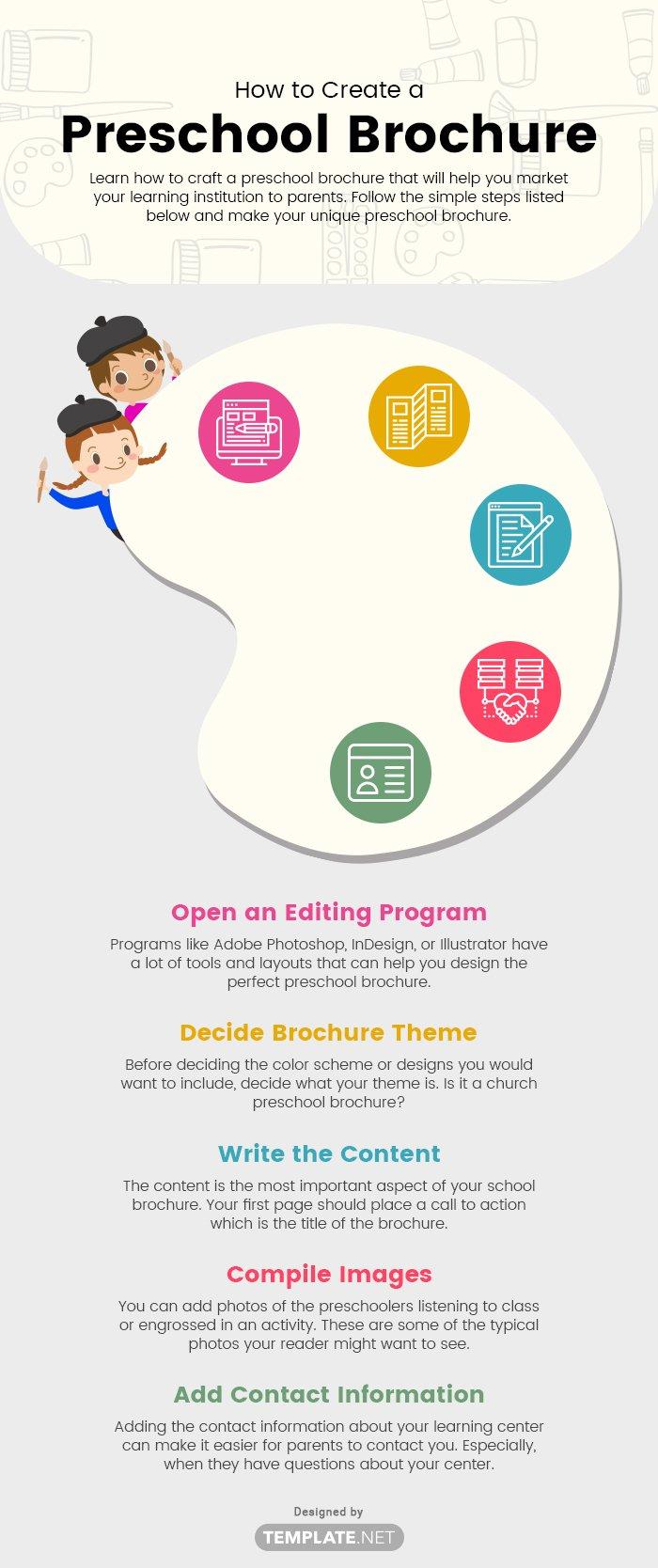 preschool brochure template
