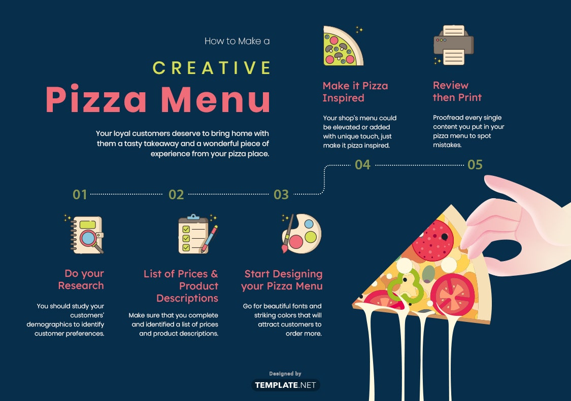 how to make a creative pizza menu