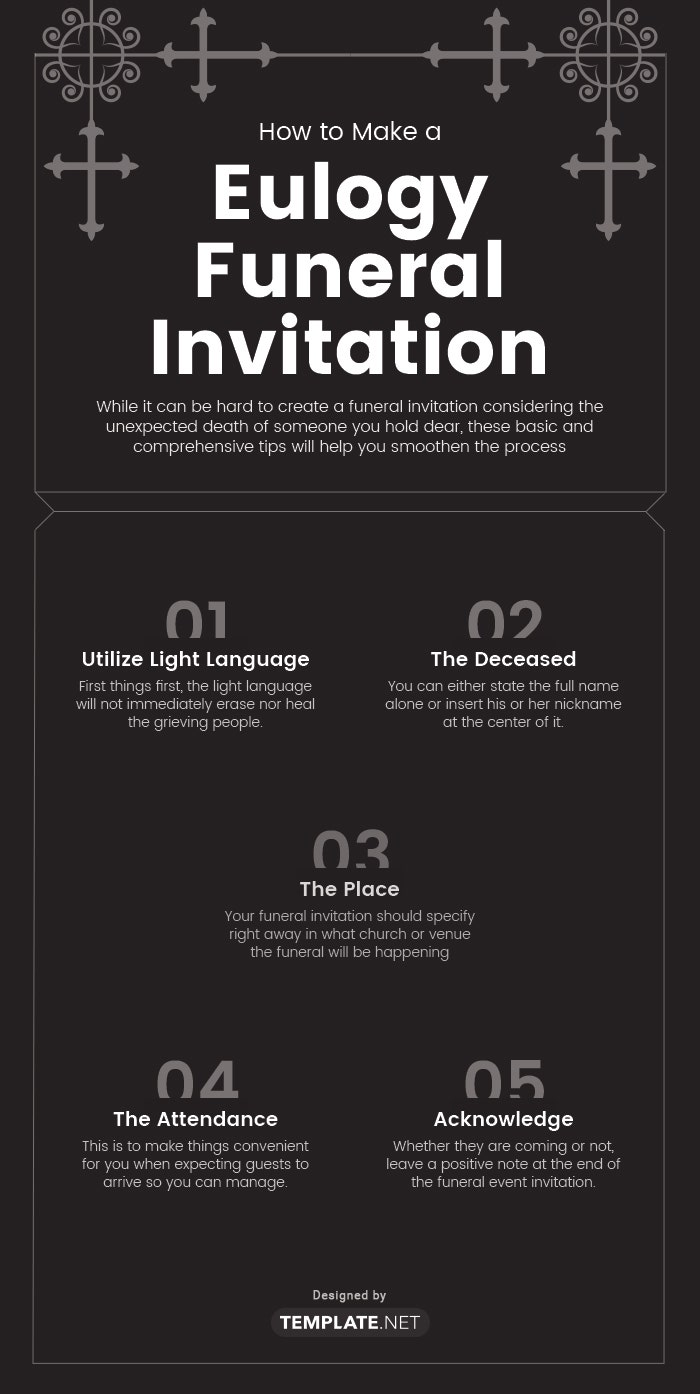 eulogy funeral invitation template