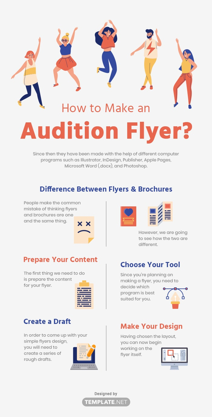 how to make an audition flyer?