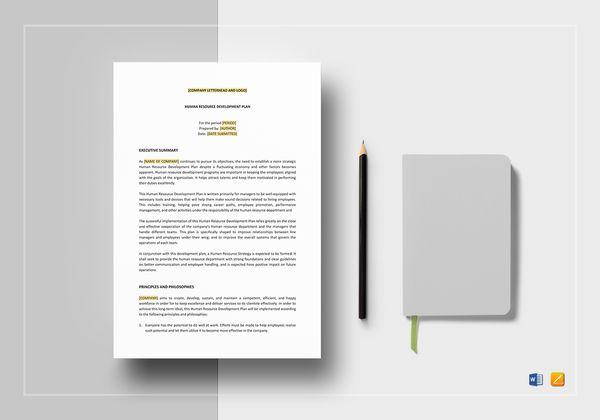 human resources development plan template mockup 600x420