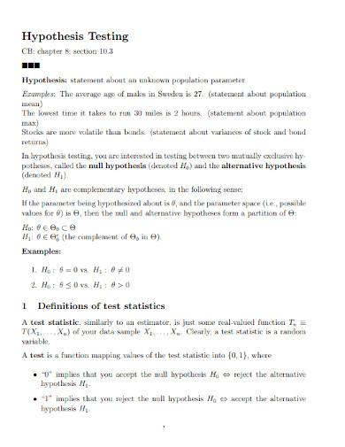 hypothesis basic testing