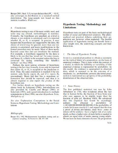 hypothesis limitation testing