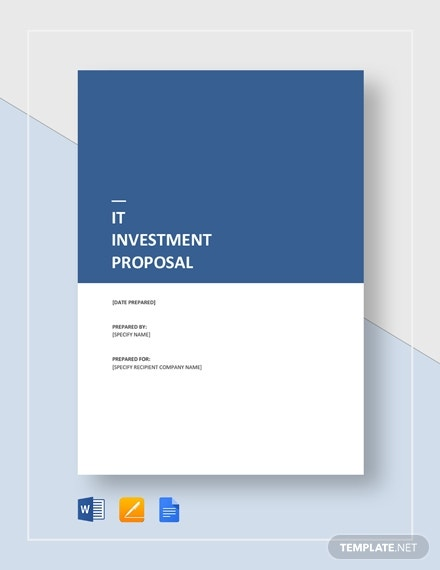 it investment proposal