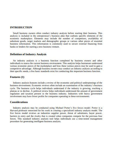 industrial environment analysis template