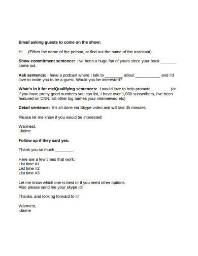 interview invitation email format