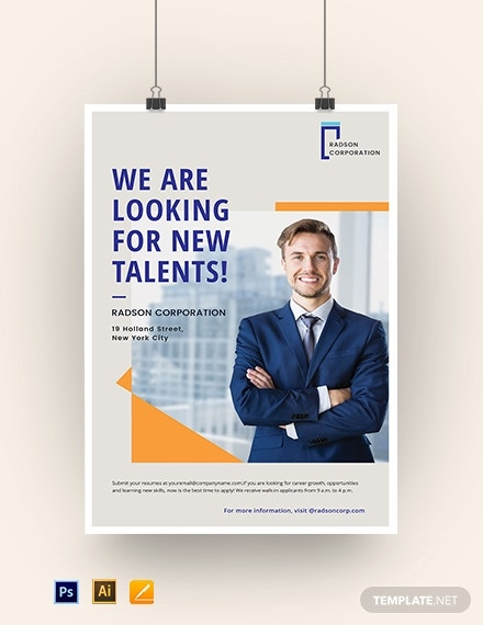job advertisement poster template1