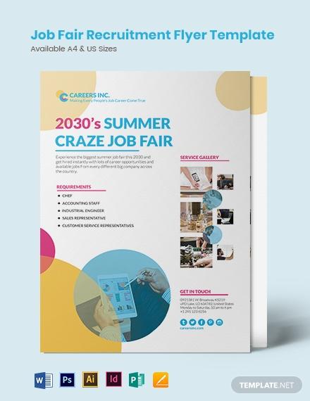 job fair recruitment flyer template1