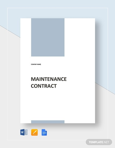 maintenance contract 2