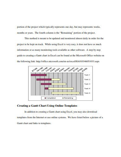 managing research project gantt charts