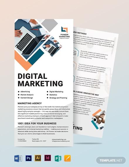 marketing agency dl card template