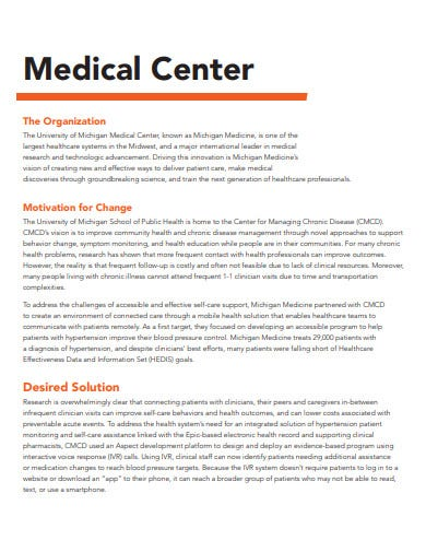 medical center case study