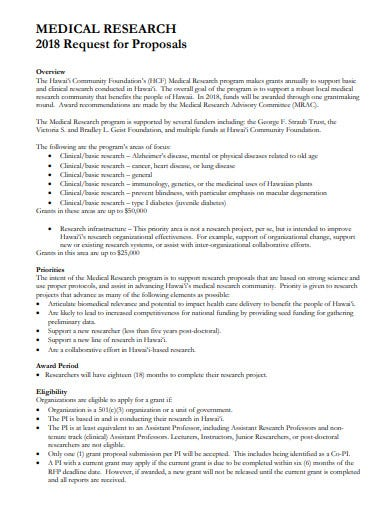 medical research request proposal template