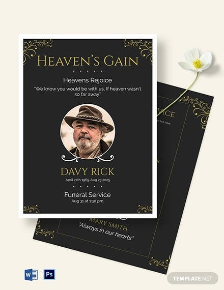 memorial eulogy funeral template1