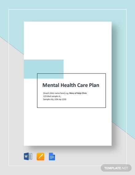 mental health care plan