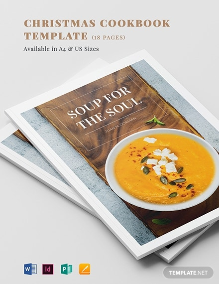 modern cookbook template