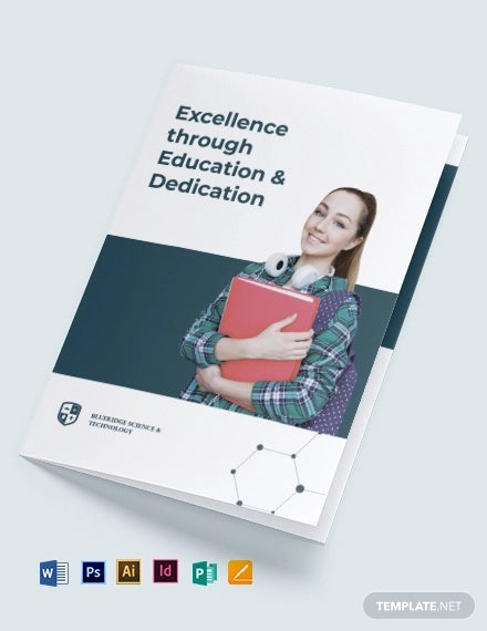 modern education bi fold brochure template