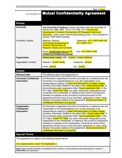 mutual research confidentiality agreement template