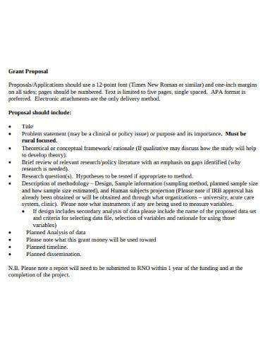 nurse research grant proposal