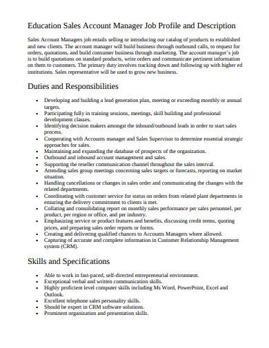outbound sales account manager job description