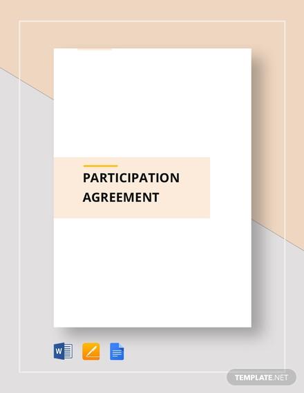 participation agreement 2