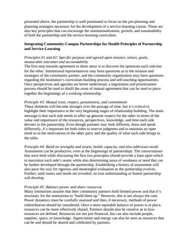 partnership development plan in pdf