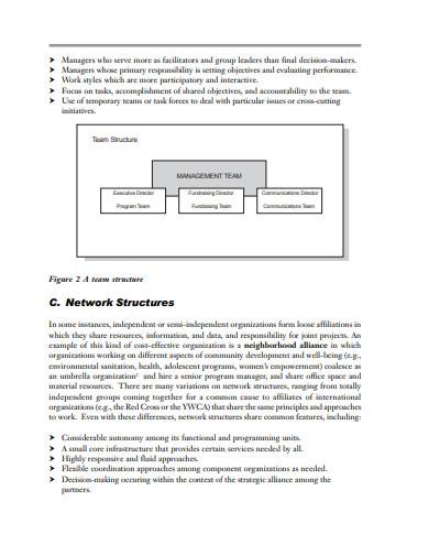 partnership organizational team chart template