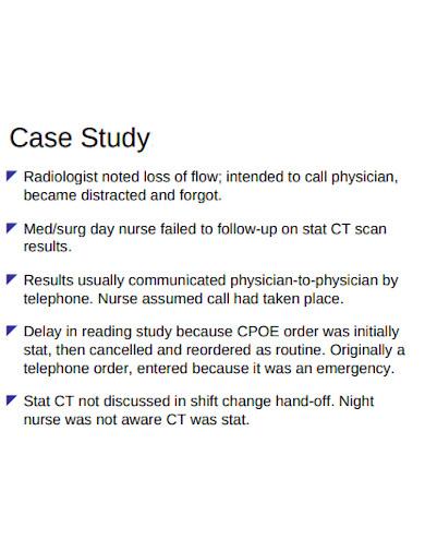 patient safety event case study