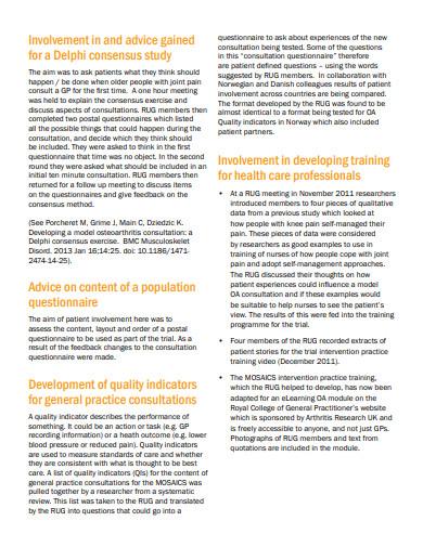 patient and public involvement case study