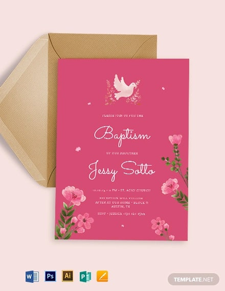 32+ Baptism Invitation Templates - Free Sample, Example, Format ...