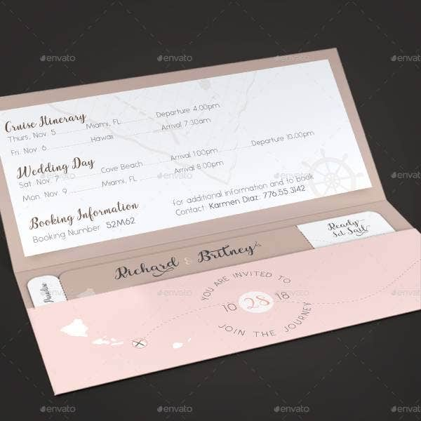 pink wedding boarding pass invitationtemplate image preview 2