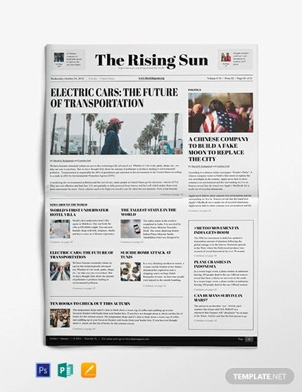 political newspaper template
