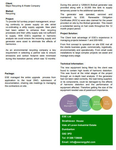 power project case study