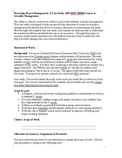 practicing project management case study