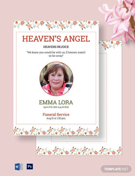 premium eulogy funeral template