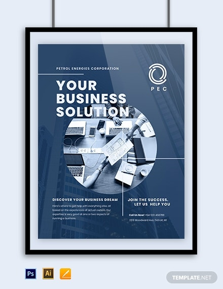 professional business poster template