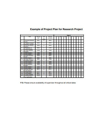 project research work plan example1