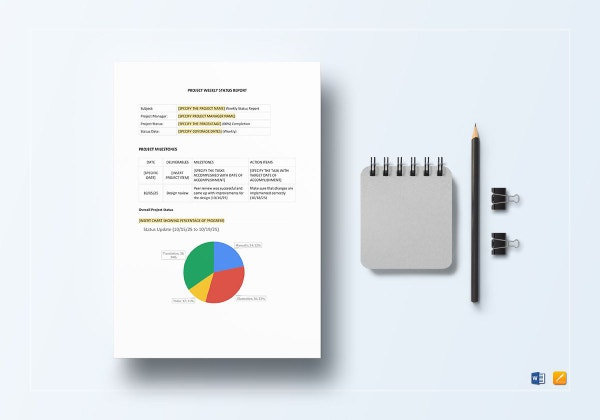 project weekly status report template 1