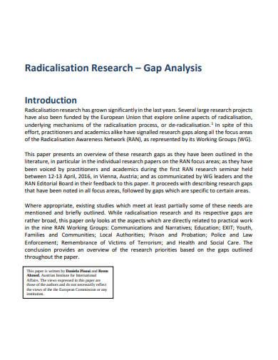 radicalisation research gap analysis