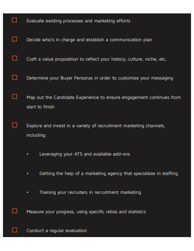 recruitment marketing strategy checklist