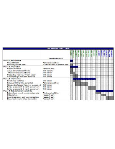 recruitment research gannt chart