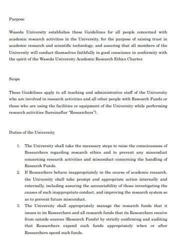 regarding academic research ethics