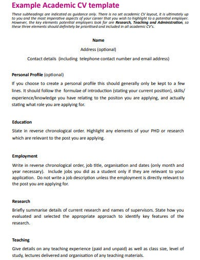 research assistant cv example