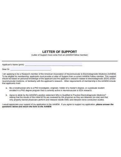 research letter of support format