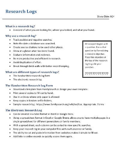 Evidence Log Template from images.template.net
