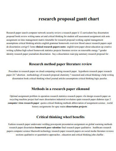 research proposal gantt chart
